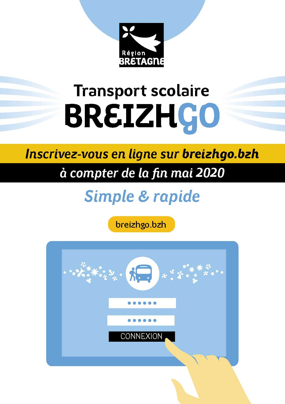 Flyer inscriptions transports scolaires